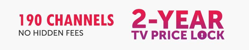 190 DIsh Channels 2 Year Price Lock