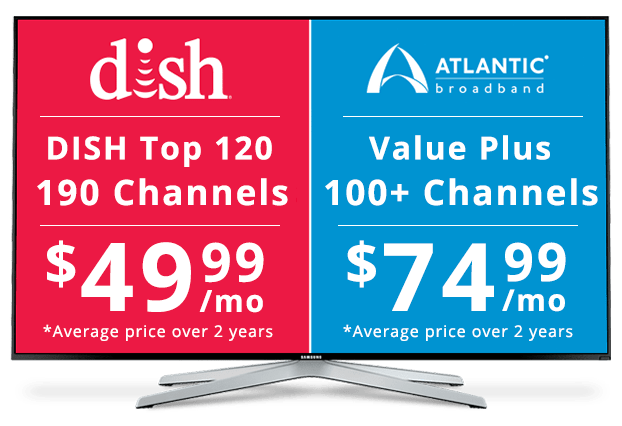 DISH vs Atlantic Broadband: Channel Packages