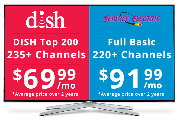 DISH vs Service Electric: Channel Packages