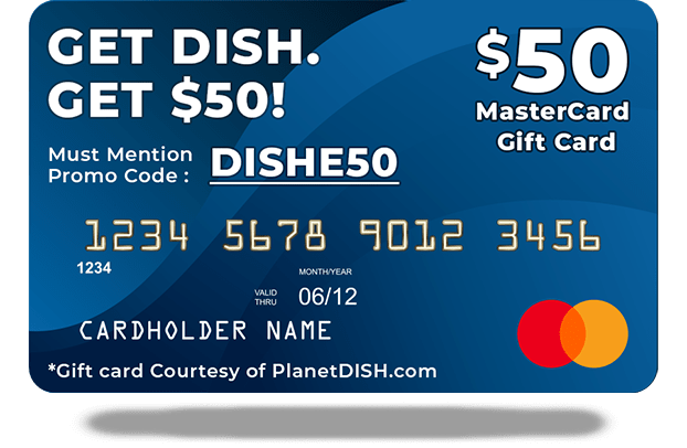 Get a $50 Gift Card with a Student Discount Code from DISH